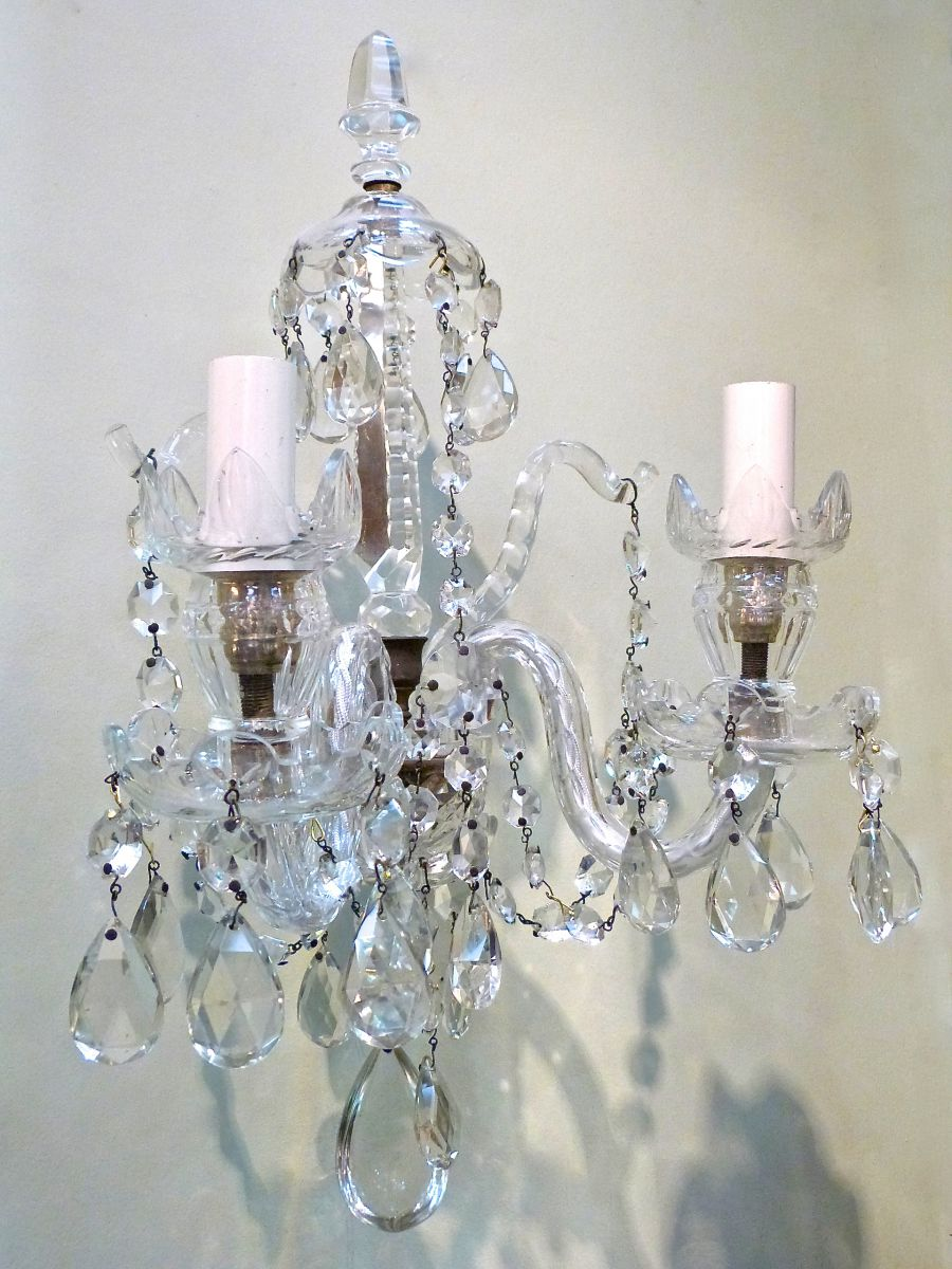 Cut Glass Wall Lights : A Pair Of George III Style Cut Glass Wall Lights - Stock - Blanchard Collective Antiques ...