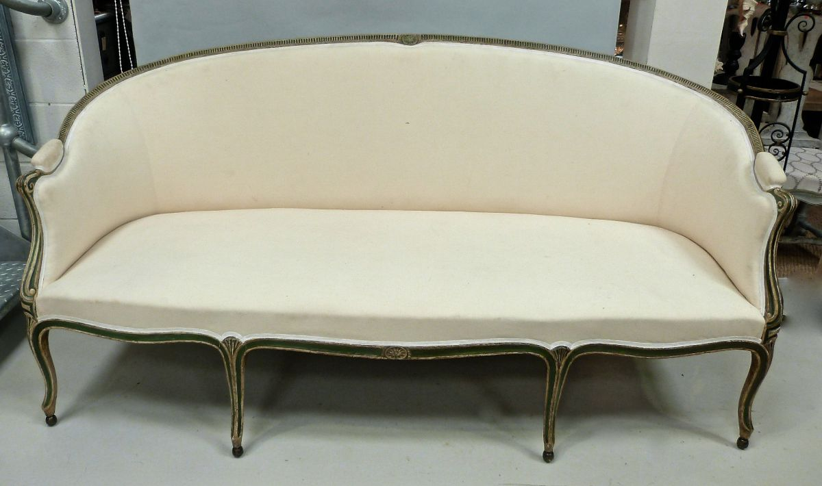 A George Iii French Hepplewhite Style Sofa Stock