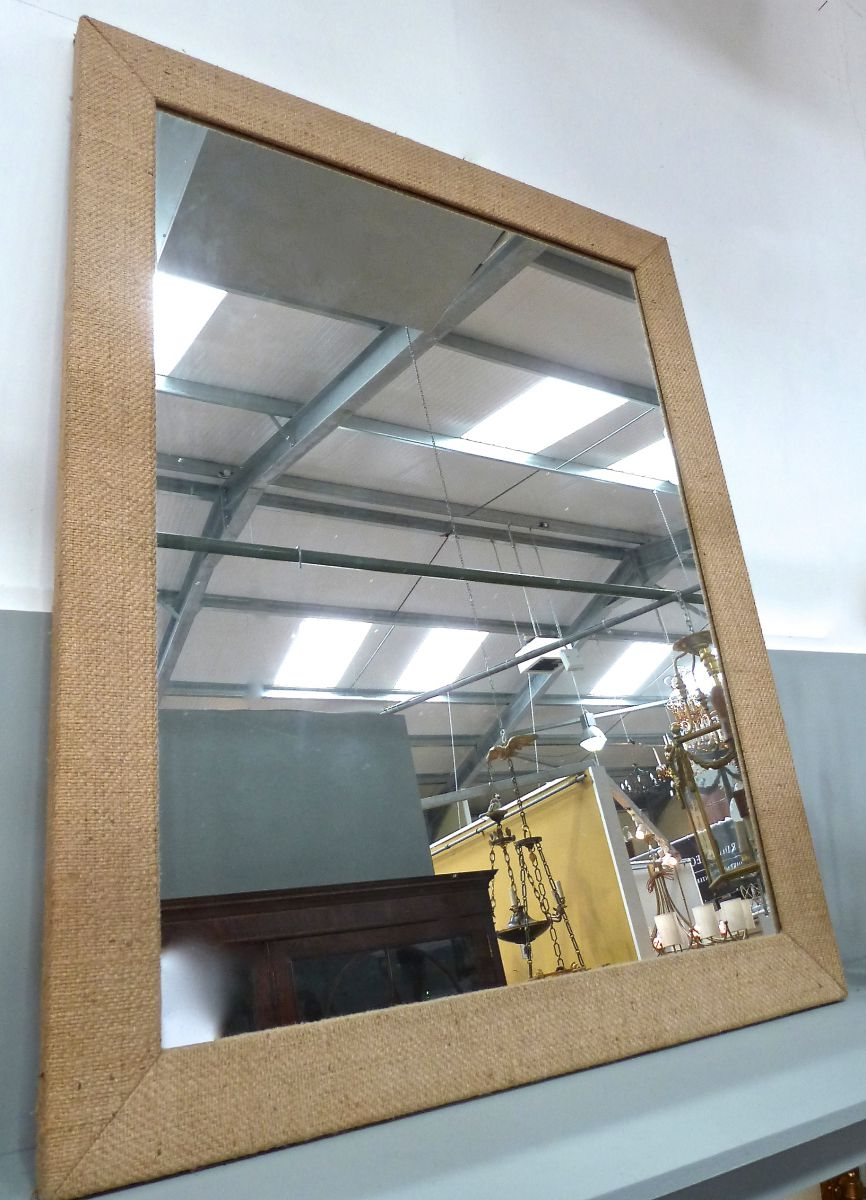 A Hessian Framed Hall Mirror Stock Blanchard