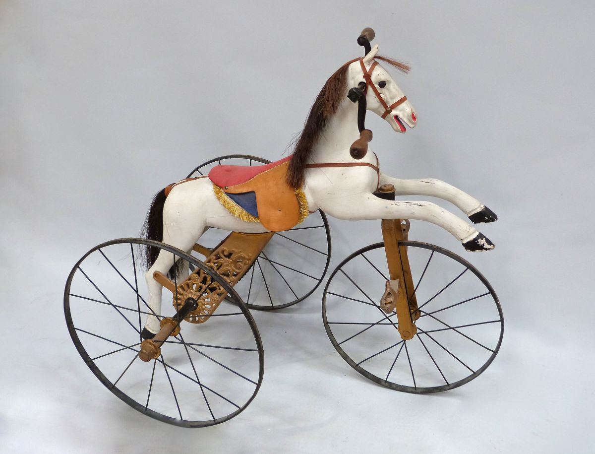 A 19c French Child S Horse Tricycle Stock Blanchard