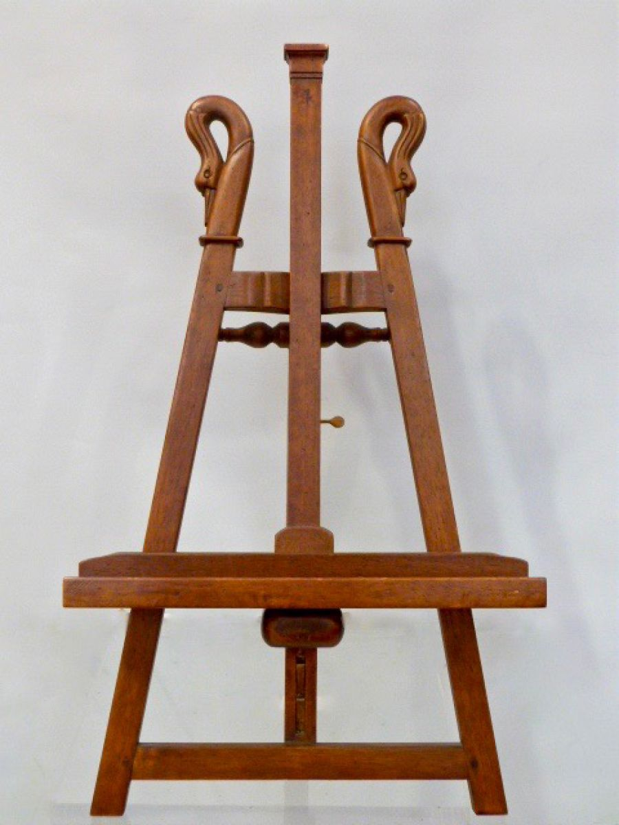A 20c Swan Neck Wooden Picture Easel Stock Blanchard