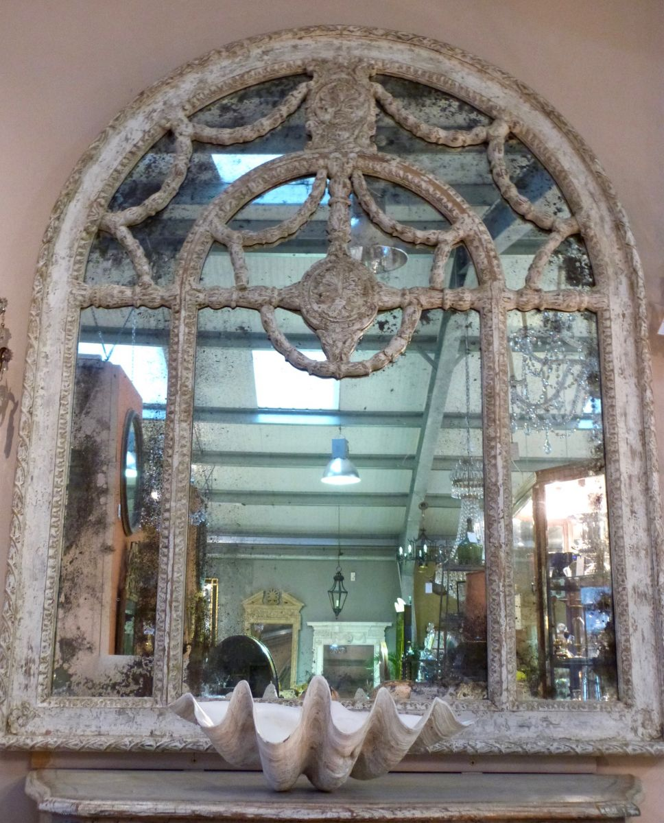 A Pair Of Decorative French Mirrors Stock Blanchard