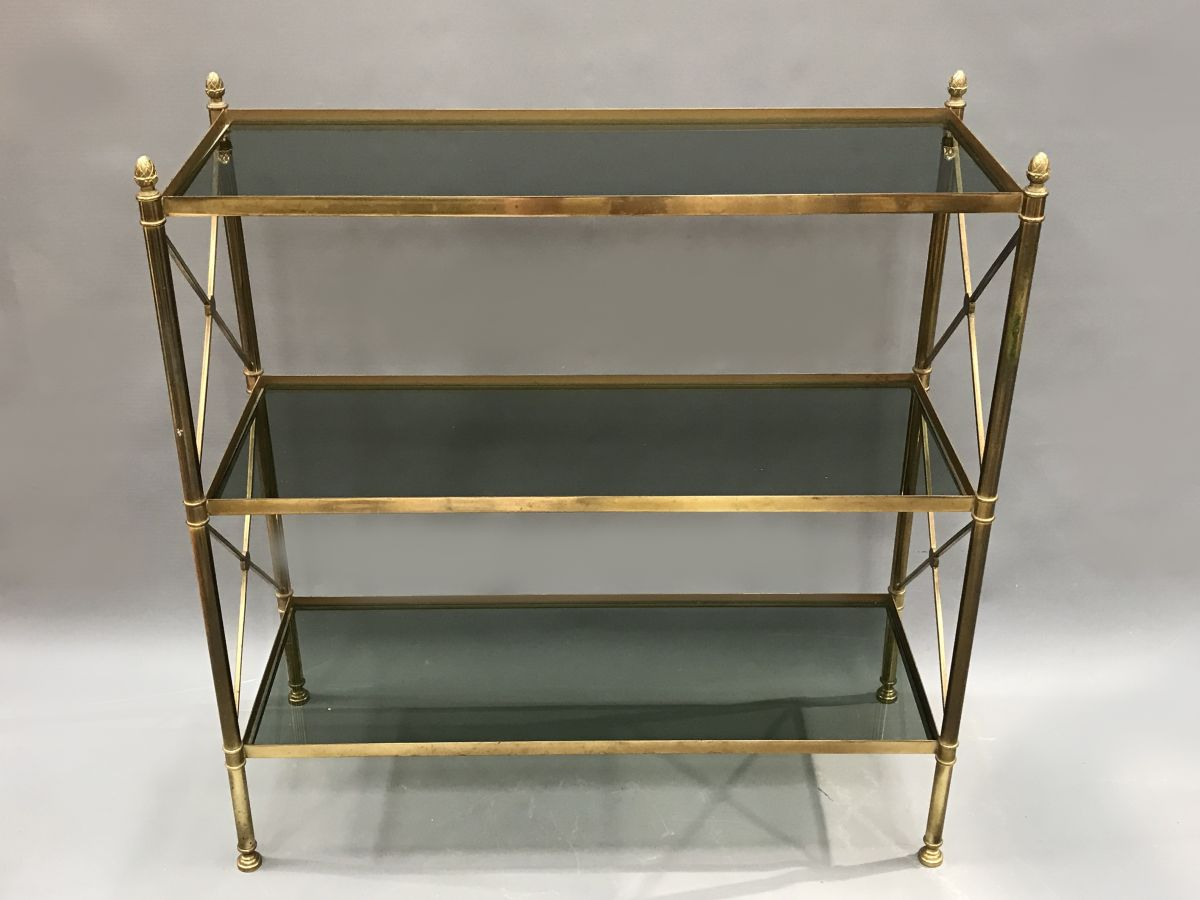 A mid century brass maison jansen etagere stock blanchard