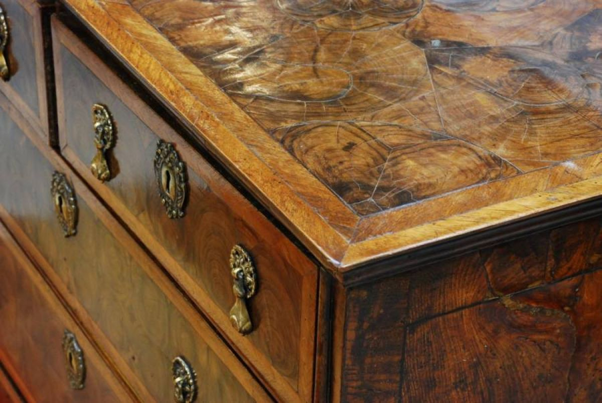 William And Mary Oyster Chest Stock Blanchard
