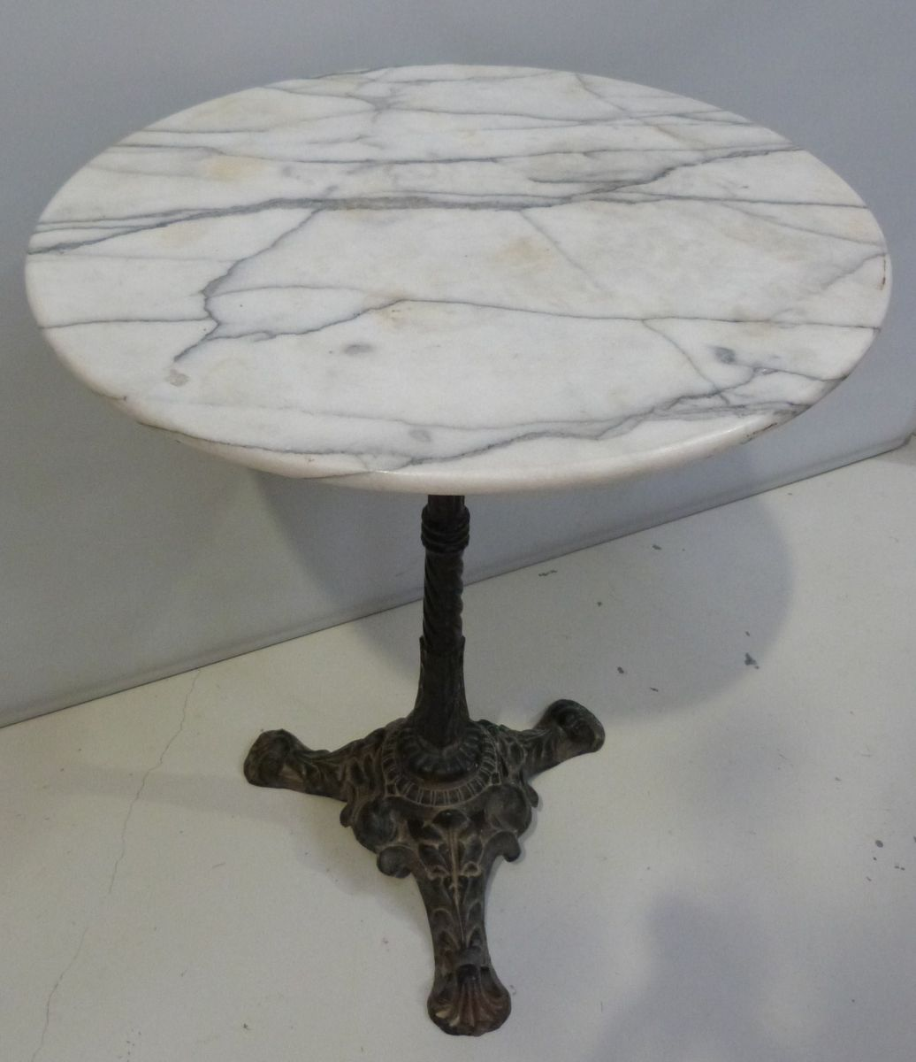 A French Round Bistro Table Stock Blanchard Collective