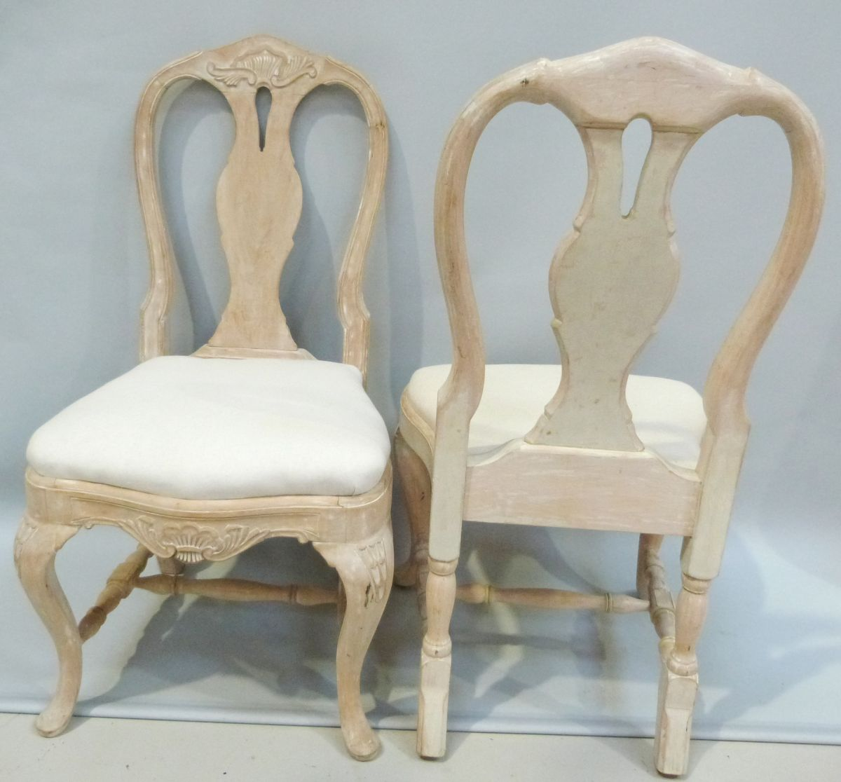 Marlborough Dining Set: Set Of 12 Continental Painted Dining Chairs