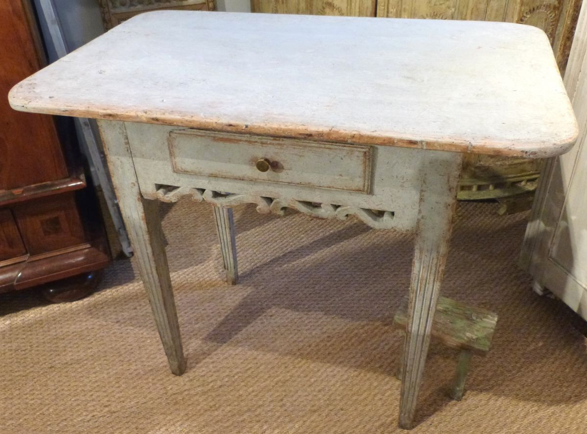 An 18c swedish gustavian side table stock blanchard for Oka gustavian side table